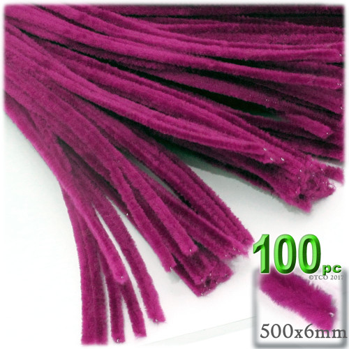 Stems, Polyester, 20-in, 100-pc, Fuchsia