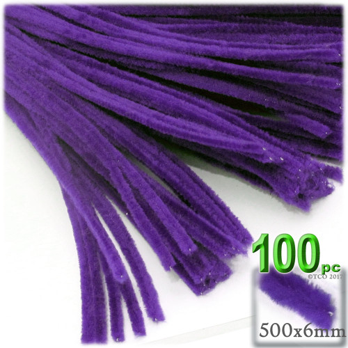 Stems, Polyester, 20-in, 100-pc, Purple
