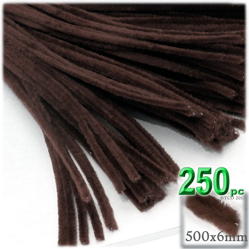 Stems, Polyester, 20-in, 250-pc, Dark Brown