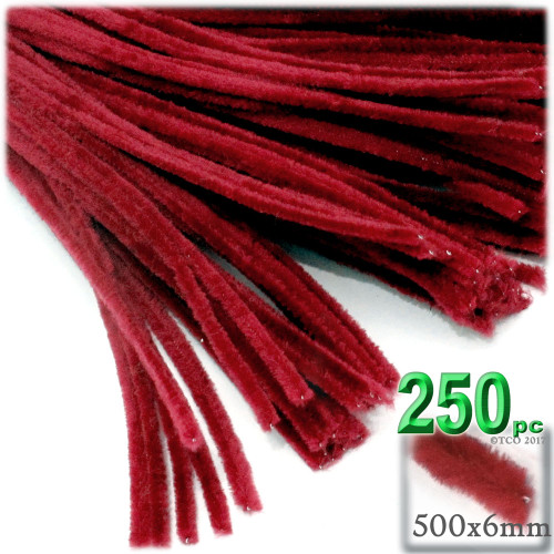 Stems, Polyester, 20-in, 250-pc, Red