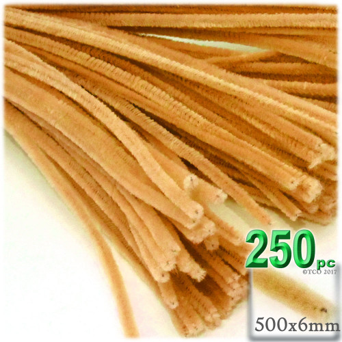 Stems, Polyester, 20-in, 250-pc, Sun Yellow