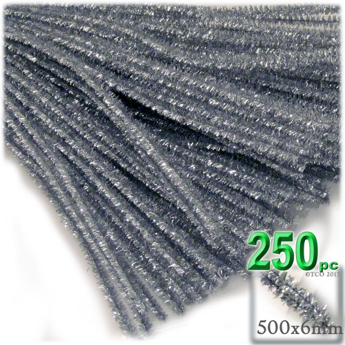 Stems, Sparkly, 20-in, 250-pc, Silver