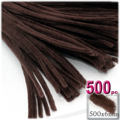Stems, Polyester, 20-in, 500-pc, Dark Brown