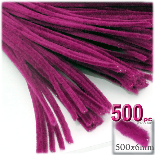 Stems, Polyester, 20-in, 500-pc, Fuchsia