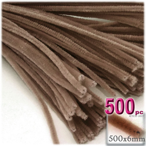 Stems, Polyester, 20-in, 500-pc, Light Brown