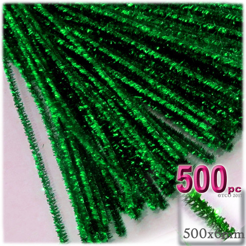 Stems, Sparkly, 20-in, 500-pc, Emerald Green
