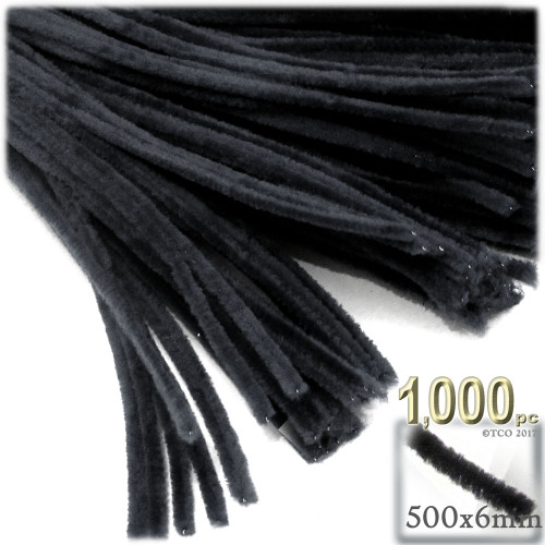 Stems, Polyester, 20-in, 1000-pc, Black