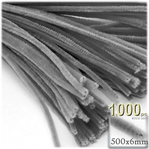 Stems, Polyester, 20-in, 1000-pc, Grey