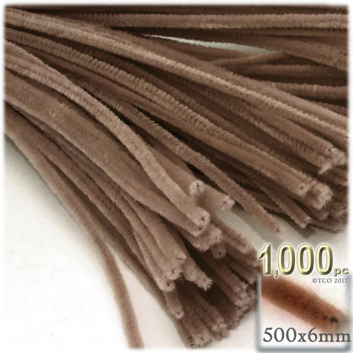 Stems, Polyester, 20-in, 1000-pc, Light Brown