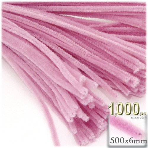 Stems, Polyester, 20-in, 1000-pc, Pink