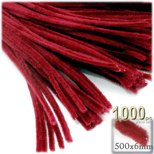 Stems, Polyester, 20-in, 1000-pc, Red