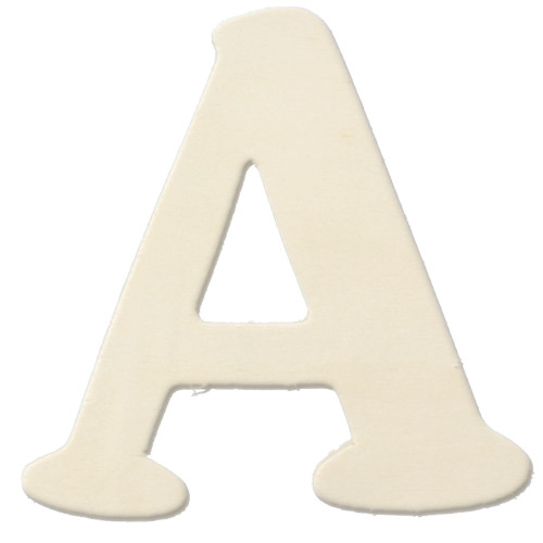 Unfinished Wood, 3-in, 4mm Thick, Letter, Letter A