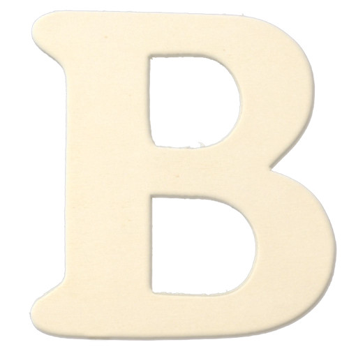 Unfinished Wood, 3-in, 4mm Thick, Letter, Letter B