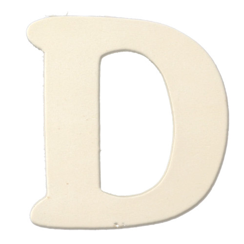 Unfinished Wood, 3-in, 4mm Thick, Letter, Letter D