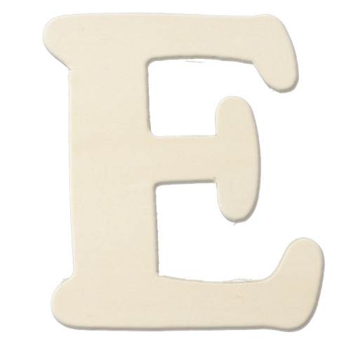 Unfinished Wood, 3-in, 4mm Thick, Letter, Letter E
