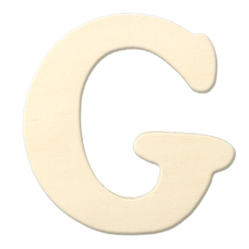 Unfinished Wood, 3-in, 4mm Thick, Letter, Letter G