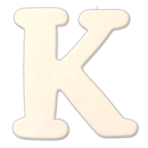 Unfinished Wood, 3-in, 4mm Thick, Letter, Letter K