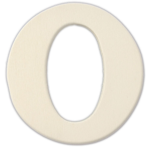 Unfinished Wood, 3-in, 4mm Thick, Letter, Letter O