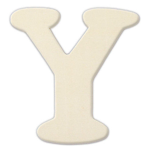 Unfinished Wood, 3-in, 4mm Thick, Letter, Letter Y