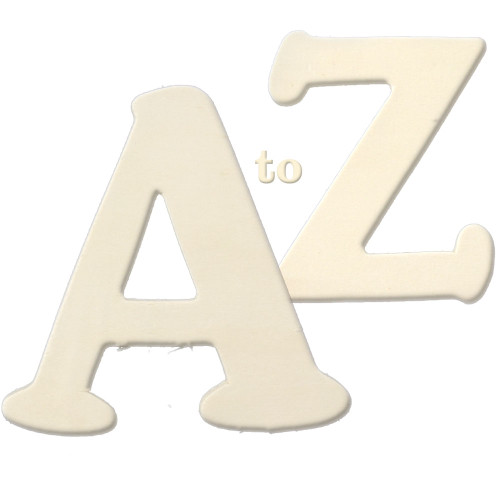 Unfinished Wood, 3-in, 4mm Thick, Letter, Full Alphabet Set 26 letters A to Z