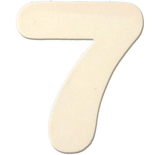 Unfinished Wood, 3-in, 4mm Thick, Number, Number 7