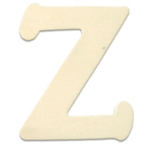 Unfinished Wood, 3-in, 4mm Thick, Letter, Letter Z