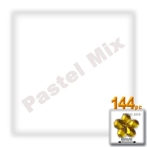 Rhinestones, Flatback, Flower, 6mm, 144-pc, Pastel Assortment