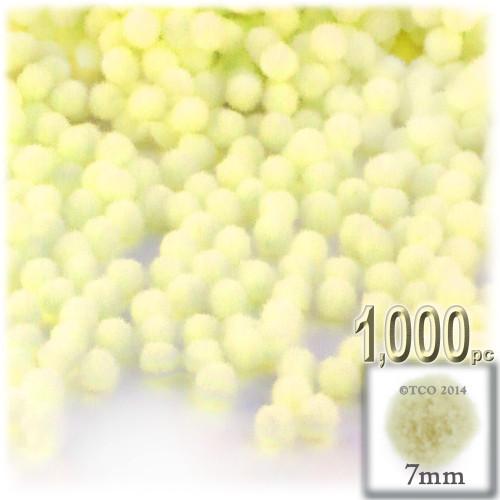 Acrylic Pom Pom, 7mm, 1,000-pc, Light Yellow