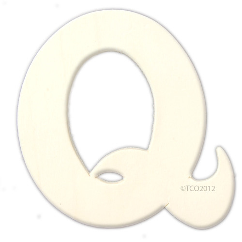 Unfinished Wood, 4-in, 1/8-in Thick, Letter, Letter Q