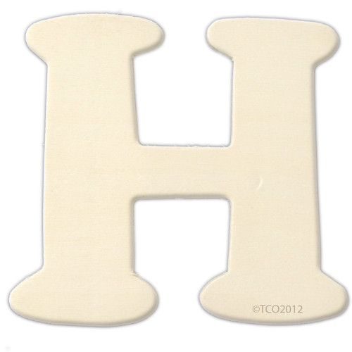 Unfinished Wood, 4-in, 1/8-in Thick, Letter, Letter H