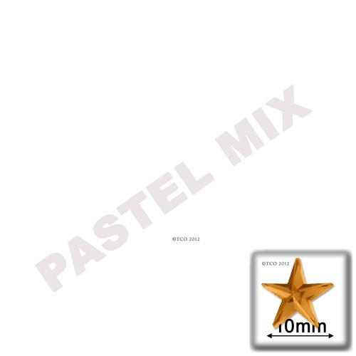 Rhinestones, Flatback, Round, Star, 10mm, 144-pc, Pastel Assortment