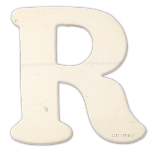 Unfinished Wood, 4-in, 1/8-in Thick, Letter, Letter R