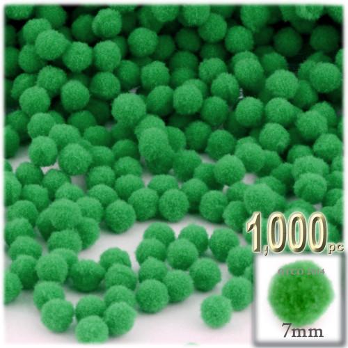 Acrylic Pom Pom, 7mm, 1,000-pc, Light Green
