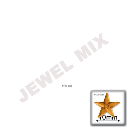 Rhinestones, Flatback, Round, Star, 10mm, 144-pc, Jewel Tone Assortment
