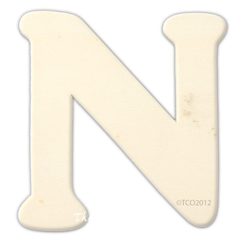 Unfinished Wood, 4-in, 1/8-in Thick, Letter, Letter N
