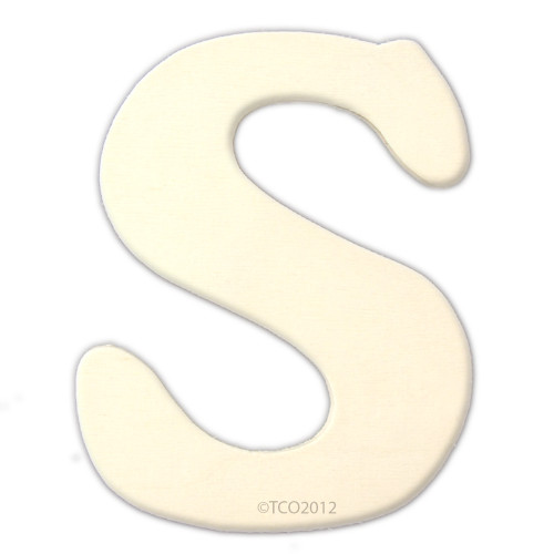 Unfinished Wood, 4-in, 1/8-in Thick, Letter, Letter S