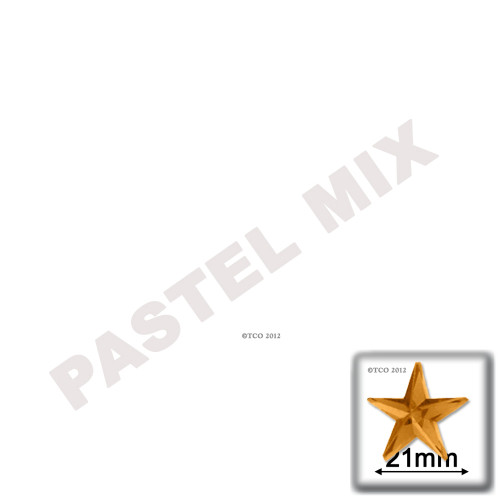 Rhinestones, Flatback, Star, 21mm, 144-pc, Pastel Assortment