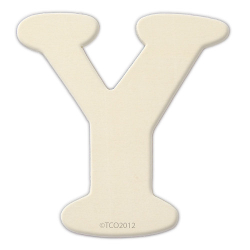 Unfinished Wood, 4-in, 1/8-in Thick, Letter, Letter Y
