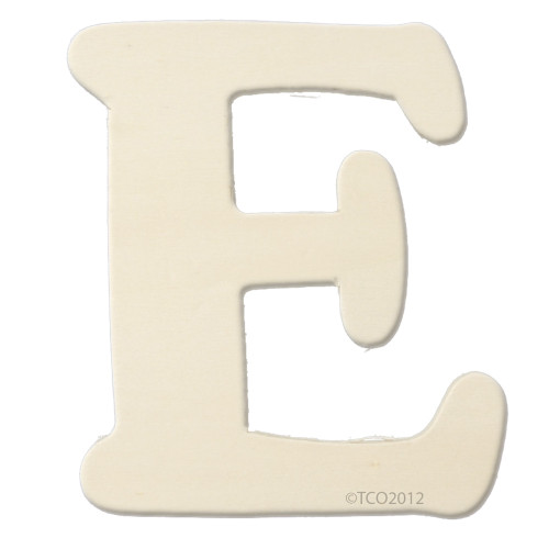 Unfinished Wood, 4-in, 1/8-in Thick, Letter, Letter E