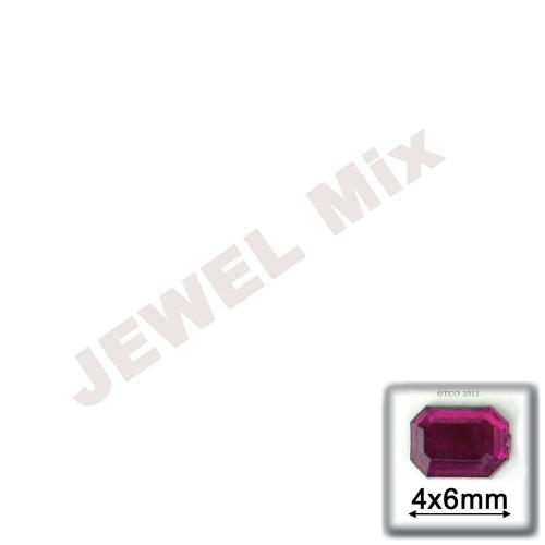 Rhinestones, Flatback, Rectangle, 4x6mm, 288-pc, Jewel Tone Assortment