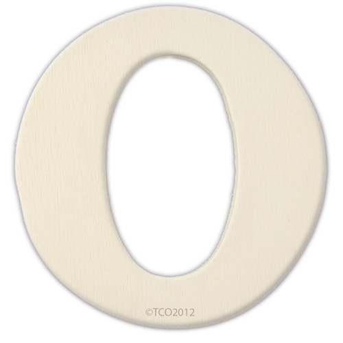 Unfinished Wood, 4-in, 1/8-in Thick, Letter, Letter O