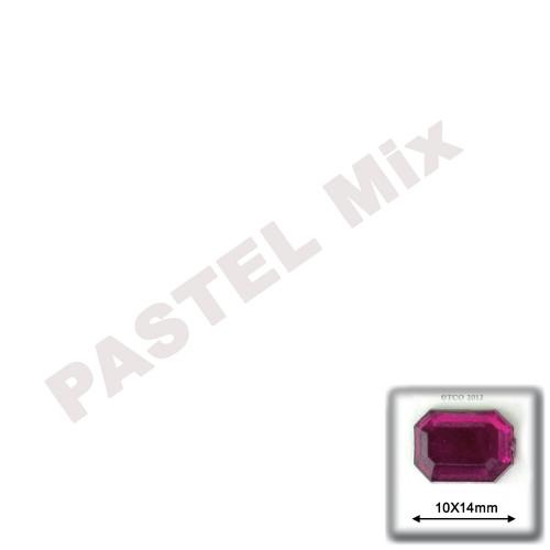 Rhinestones, Flatback, Rectangle, 10x14mm, Pastel Assortment