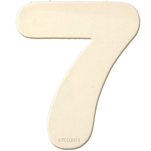 Unfinished Wood, 4-in, 1/8-in Thick, Number, Number 7
