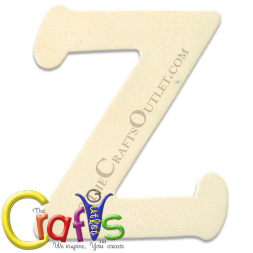 Unfinished Wood, 4-in, 1/8-in Thick, Letter, Letter Z