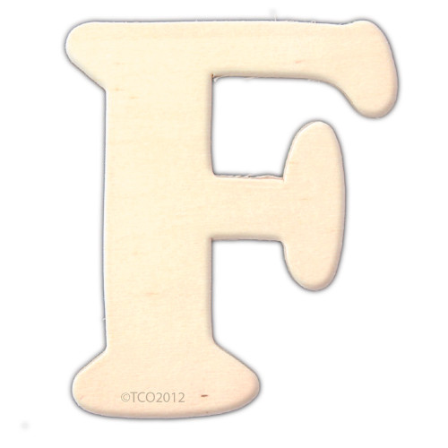 Unfinished Wood, 4-in, 1/8-in Thick, Letter, Letter F