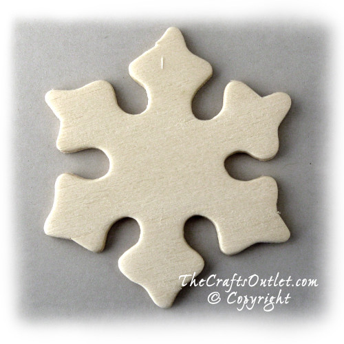 Unfinished Wood, 3-in, 1/8-in Thick, Shape, Snow Flake Shapes