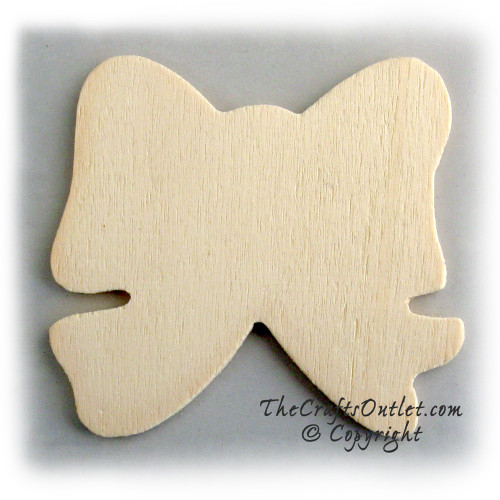 Unfinished Wood, 3-in, 1/8-in Thick, Shape, Gift Bow Shapes