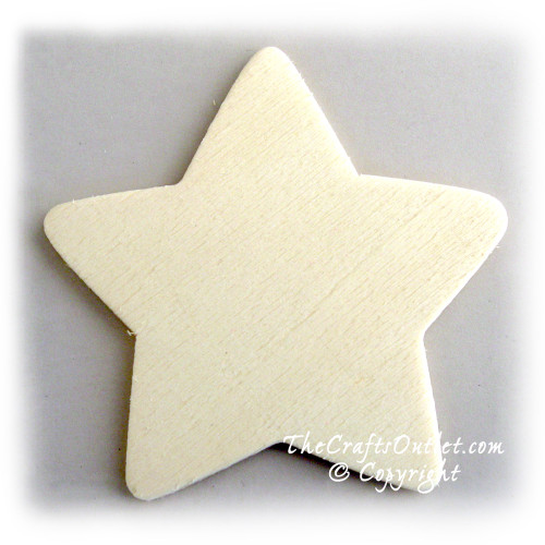 Unfinished Wood, 3-in, 1/8-in Thick, Shape, Star Shapes