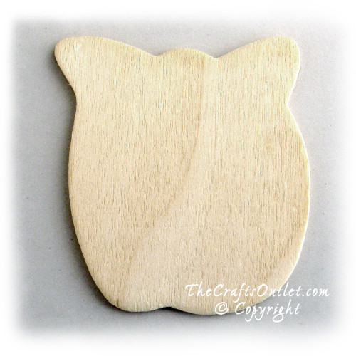 Unfinished Wood, 3-in, 1/8-in Thick, Shape, Apple Shapes