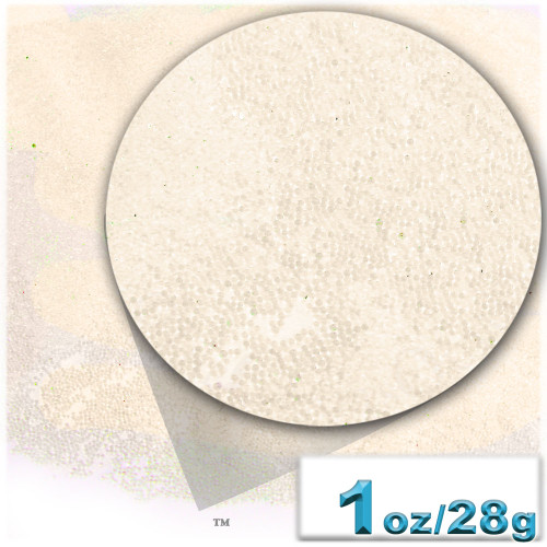 Glass Beads, Microbeads, Transparent, Opal, 0.6mm, 1-oz, Pearl